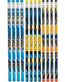 Batman blyertspennor med sudd 12p - Batman blyertspennor med sudd 12p