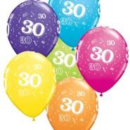 Ballonger 27,5cm 6p assorted colors 30 32kr