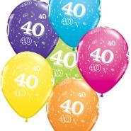 Ballonger 27,5cm 6p assorted colors 40 32kr