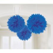 Pompom 40cm 3p Mörk blå