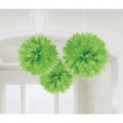 Pompom 40cm 3p grön
