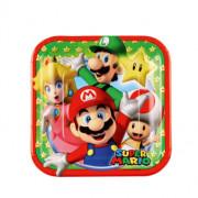 Pappersasietter 8p Super Mario