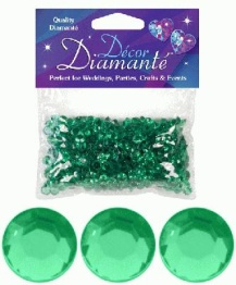 Bordsdiamanter 6mm Emerald 28g - Bordsdiamanter 6mm Emerald 28g