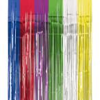 Metallicdraperi 240x91,4cm multifärg 89kr