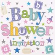 Babyshower inbjudan 6p
