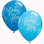 Ballonger 25p baby boy blå