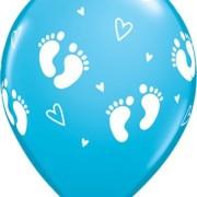 Ballonger 6st babyfötter blå
