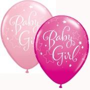 Ballonger 25p baby girl rosa