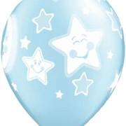 Ballonger 25p blue moon & stars