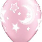 Ballonger 25p pink moon & stars
