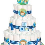 Blöjtårtekit/ Diapercake-kit blå