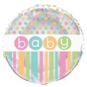 Folieballong 45cm babyshower polka dot