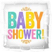Folieballong babyshower 46cm