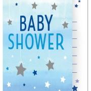 Inbjudan Babyshower Blue Twinkle Little Star 8p