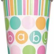Pappersmuggar 8p polka dots baby