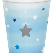 Pappersmuggar 8p twinkle little star blue
