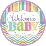 Papperstallrikar 18p welcome baby