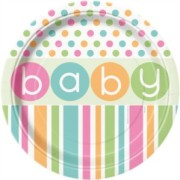 Papperstallrikar 8p polka dot baby