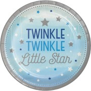 Papperstallrikar 8p twinkle little star blue