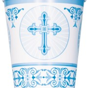 Pappersmuggar 8p radiant cross blue