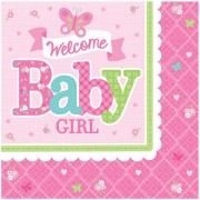 Servetter 16p welcome baby girl