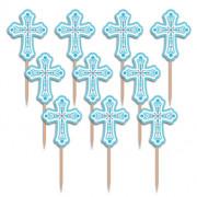 Partypicks kors turkosblå 36st