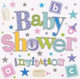 Babyshower inbjudan 6p - Babyshower inbjudan 6p
