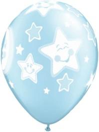 Ballonger 25p blue moon & stars - Ballonger 25p blue moon & stars