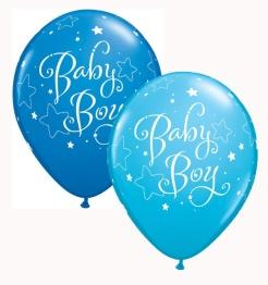 Ballonger 25p baby boy blå - Ballonger 25p baby boy blå