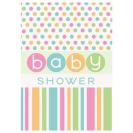 Babyshower inbjudan polka dot 8p - Babyshower inbjudan polkadots 8p