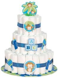 Blöjtårtekit/ Diapercake-kit blå -
