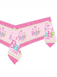 Plastad duk welcome baby girl - Plastad duk welcome baby girl