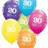 Ballonger 27,5cm 6p assorted colors 20 32kr