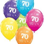 Ballonger 27,5cm 6p assorted colors 70 32kr