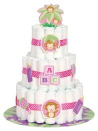 Blöjtårtekit/ Diapercake-kit rosa - Blöjtårtekit/ Diapercake-kit rosa