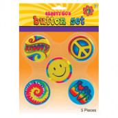 Buttonset hippie 5st 29kr