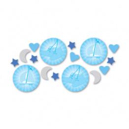 Konfetti babyskor, segelbåt, måne blå 14g - Konfetti babyskor, segelbåt, måne blå 14g