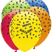 Ballonger 30cm 6p block party