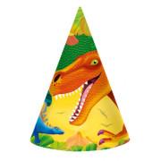 Partyhattar 8p Dinosaurie