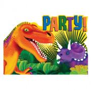 Kalasinbjudningar Dinosaurie 8p