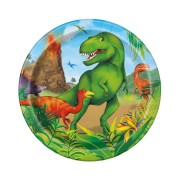 Pappersassietter 8p Dinosaurie