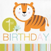 Servetter 16p Happy jungle first birthday