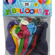 Ballonger 30cm 25p mixade färger