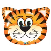 Folieballong Supershape Tigerhuvud