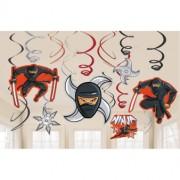 Swirl dekorationer 12st Ninja
