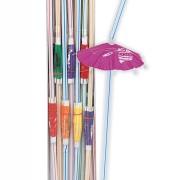 Sugrör med parasol Luau 25p