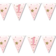 Vimpel 3,7m Twinkle little star 1 pink