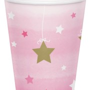 Pappersmuggar 8p Twinkle little star pink