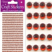 Strass-stickers 3mm 418 st röd