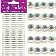 Strass-stickers 3mm 418 st iriserande